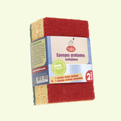 Eco-friendly green/red scrubbing sponges